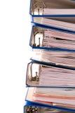 Pile bleue de dépliant image stock