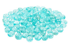 Pile of blue Apatite beads Royalty Free Stock Images