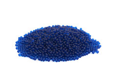 Pile of blue beads isolated Royalty Free Stock Images