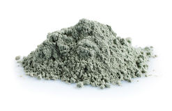 Pile of blue cosmetic clay Stock Image