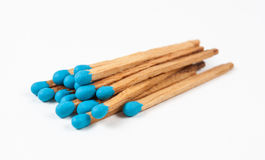 Pile of Blue Matchsticks Royalty Free Stock Photography