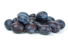 Pile of blue plums Royalty Free Stock Photos