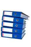 Pile of blue ring binders. Stock Photography