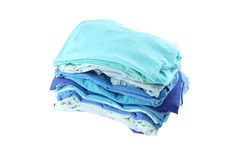 Pile of blue shade cloths Stock Photos