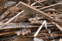 Pile of boards Royalty Free Stock Image