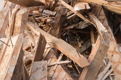 Pile of boards Stock Photography