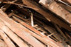 Pile of boards Stock Images