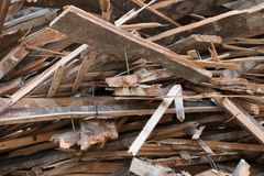 Pile of boards Royalty Free Stock Photography