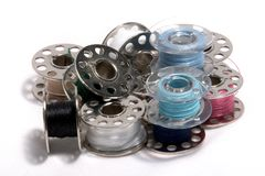 Pile of bobbins Royalty Free Stock Images