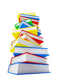 Pile of book. 3d pile of book isolated on white background Royalty Free Stock Images