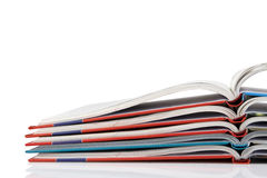 Pile of book with bending pages Royalty Free Stock Photography