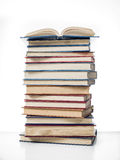Pile of book isolated Royalty Free Stock Image