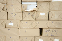 Pile book of package Royalty Free Stock Photo