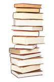 Pile of books. Isolated on white background. Path included royalty free stock photography