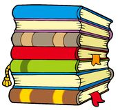 Pile of books vector illustration