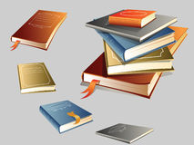 Pile of books. An illustration of 5 books in a pile + EPS format Royalty Free Stock Photos