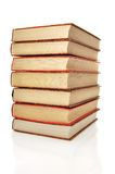 Pile of books. Isolated on white Stock Photo