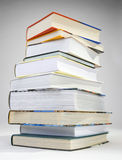 A pile of books. A pile of various color of hardcovered books royalty free stock photos