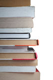 Pile of books. Isolated on the white Stock Images
