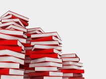 Pile of books. 3d render of pile of books royalty free illustration
