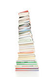 Pile of books. On white background royalty free stock image