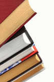 Pile of books. Different books in high pile Royalty Free Stock Image