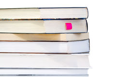 Pile of books. Isolated on white background stock photography
