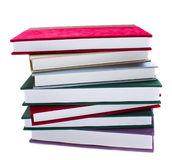 Pile of books. Pile of  books isolated on white background Royalty Free Stock Photo