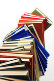 Pile of books. Over white Stock Image