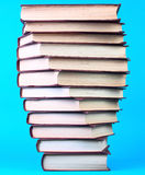 Pile of books. From one series in spiral Royalty Free Stock Photos