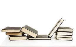 Pile of books. Isolated on white background royalty free stock photography