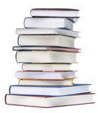 Pile Of Books. Hand made clipping path included Stock Image