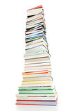 Pile of books. On white background stock image