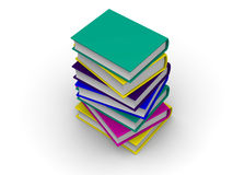 Pile of books. 3d Royalty Free Stock Photo