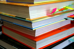 Pile of Books. Pile of colorful text books Stock Photography
