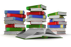 Pile of books. 3D the isolated image stock illustration