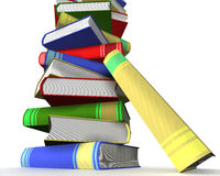 Pile of books. 3D the isolated image Stock Photos