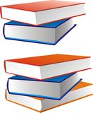 Pile of books. Vector figure - books in color covers lay Stock Images