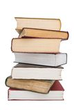 Pile of books. On a white background Royalty Free Stock Images