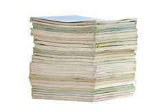 Pile of books. With clipping path Royalty Free Stock Image