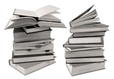 Pile of books for reading or studying Royalty Free Stock Photo