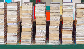 Pile of books. Big pile of books at flea market stall Stock Images