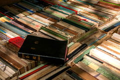 A pile of books book collection. In the book flea market set a pile of books waiting to be processed Royalty Free Stock Images