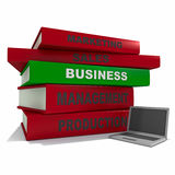 Pile of books - business Stock Photos