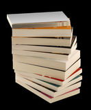 Pile books clipping path Royalty Free Stock Photo