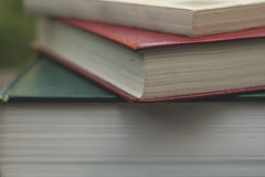 Pile of books close up Royalty Free Stock Photography