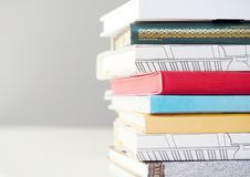 Pile of books close up view royalty free stock photos