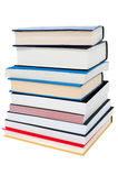 Pile of books, closeup shot Stock Images