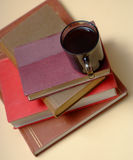 Pile of books and coffee 3 Royalty Free Stock Photography