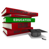 Pile of books - education Royalty Free Stock Photos